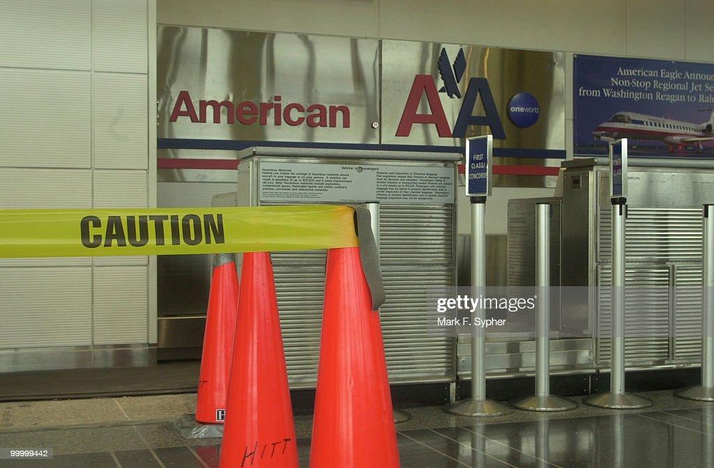 Empty walkways in Regan National Airport on Tuesday, September 17, 2001.