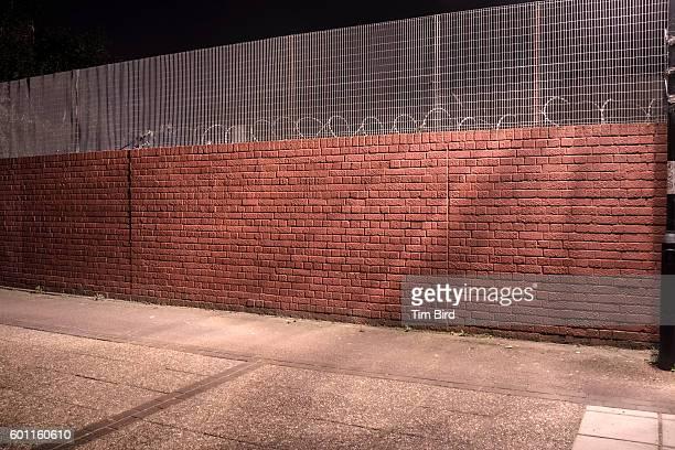 Empty wall at night