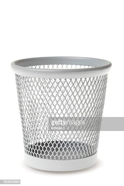 empty waste paper bin xxxl - garbage bin stock pictures, royalty-free photos & images