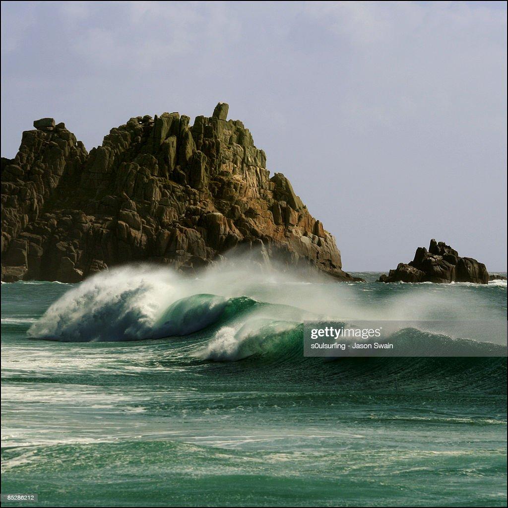Empty wave - Logan's Rock : Stock Photo