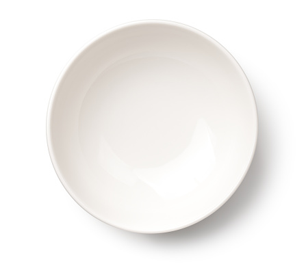 Empty White Bowl Isolated on White Background 922698536