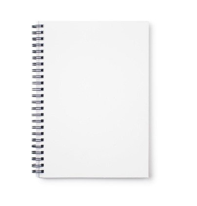 Empty white notebook with black wire binding 172765177