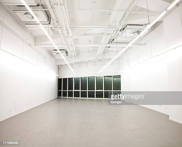 Empty white office interior