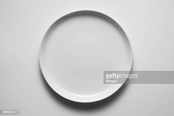 empty white plate - plate stock photos and pictures