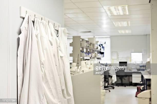 A empty white research laboratory