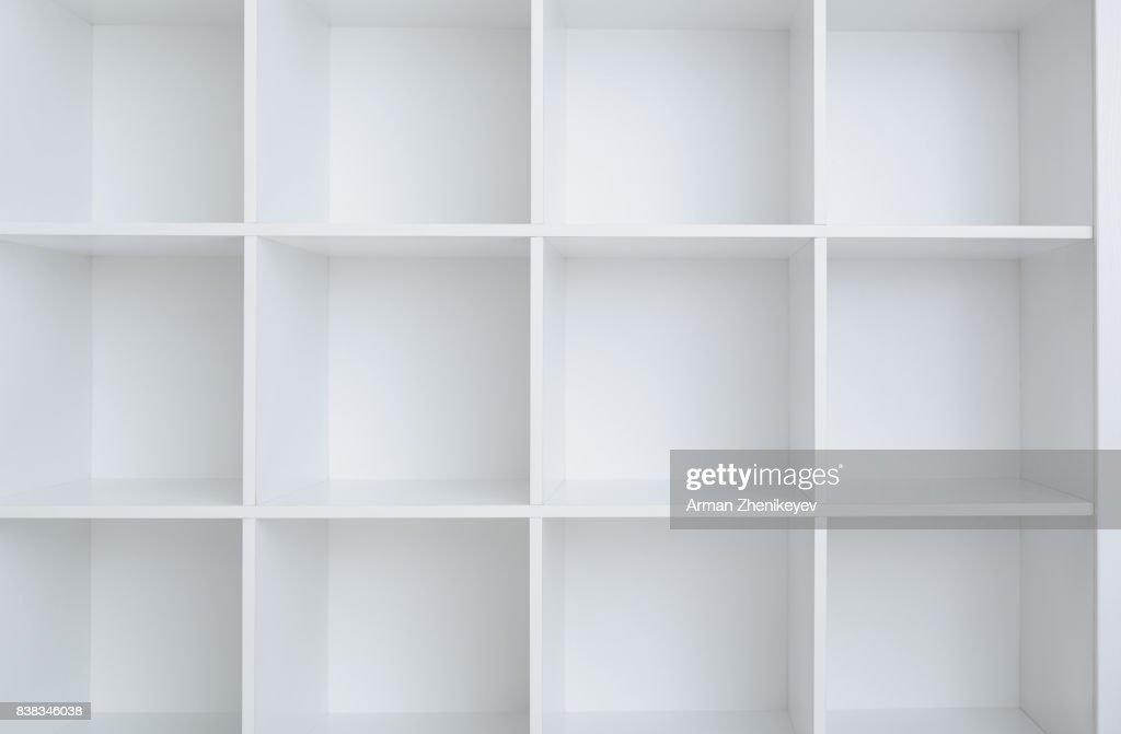 Empty white shelf cabinet : Stock-Foto