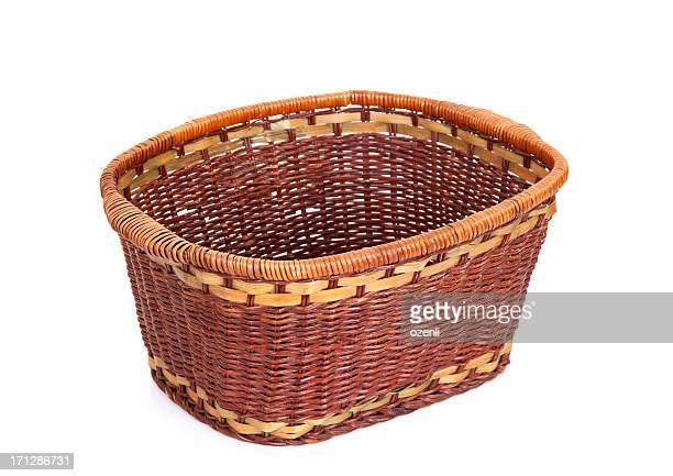 empty wickerwork basket