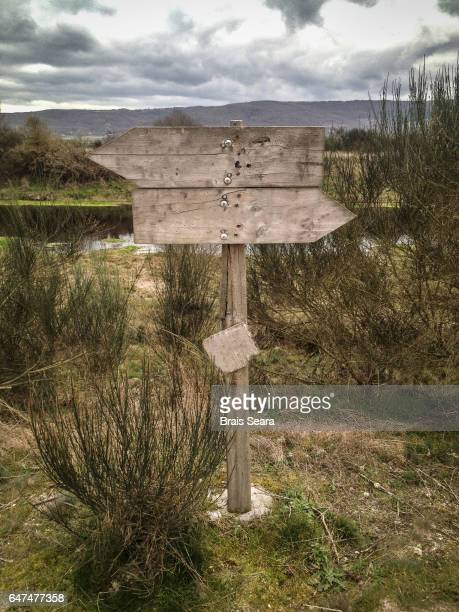 Empty wood signal