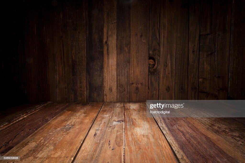 dark wood floor perspective. Empty Wood Table With Dark Vertical Background Floor Perspective