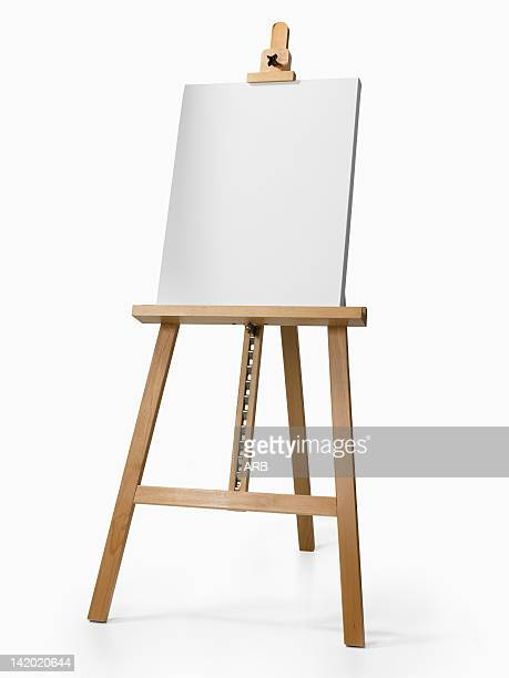 Empty wooden easel