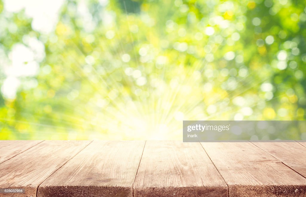 outdoor backgrounds. S Blurred Outdoor Backgrounds Empty Wooden Table Planks Green Trees Background  Outdoor Backgrounds U