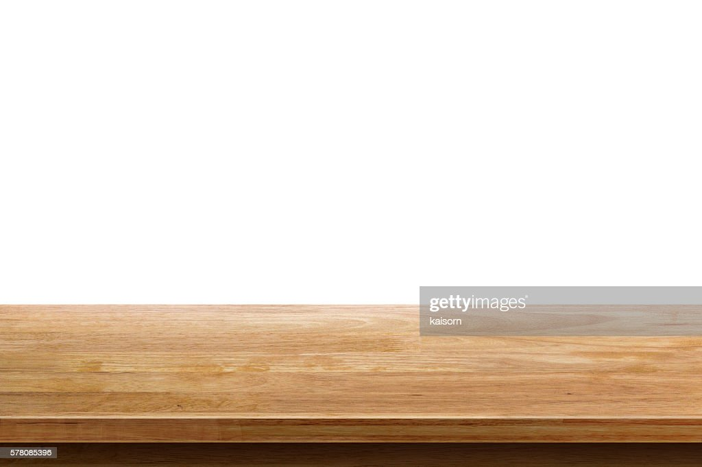 ... Empty Wooden Table Top Isolated On White Background ...