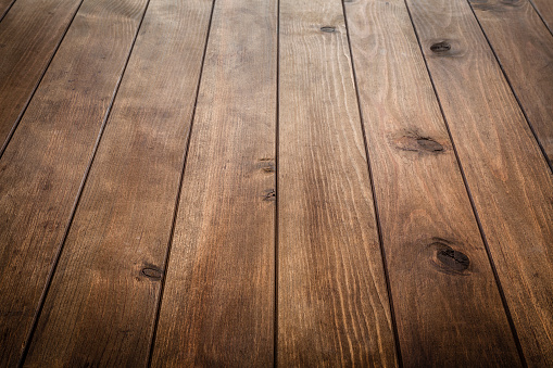 Empty wooden table with vertical stripes 1011397086