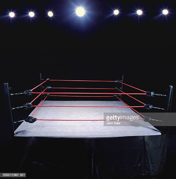 empty wrestling ring - wrestling stock pictures, royalty-free photos & images