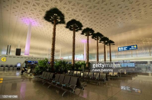 Empty Wuhan Tianhe Airport, Wuhan City, Hubei Province, China, March 17, 2020.- PHOTOGRAPH BY Costfoto / Barcroft Studios / Future Publishing