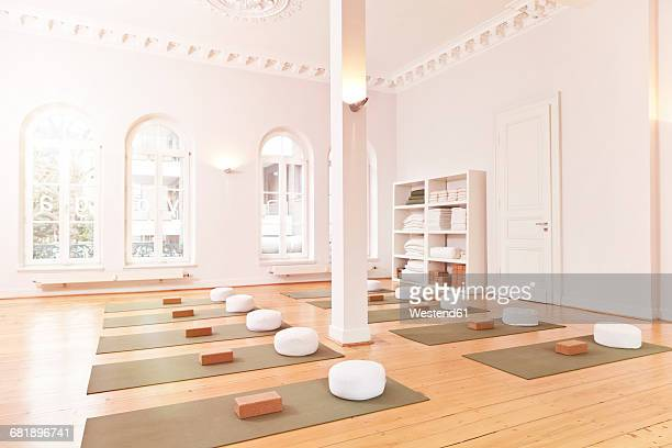 Empty yoga studio