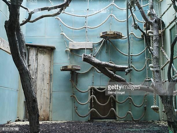 Empty zoo exhibit