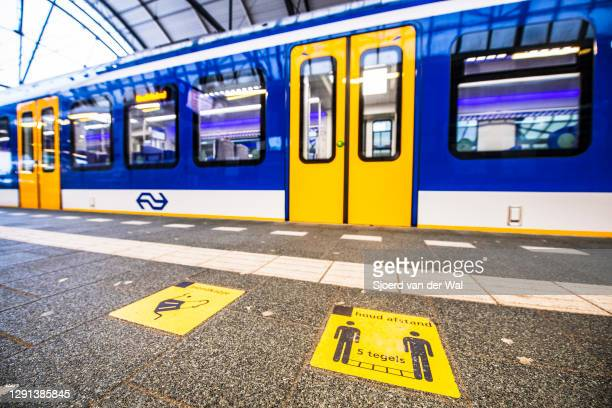 Empty Zwolle train station after the forced Coronavirus lockdown on December 15, 2020 in Zwolle, Netherlands. From December 15 the Netherlands...