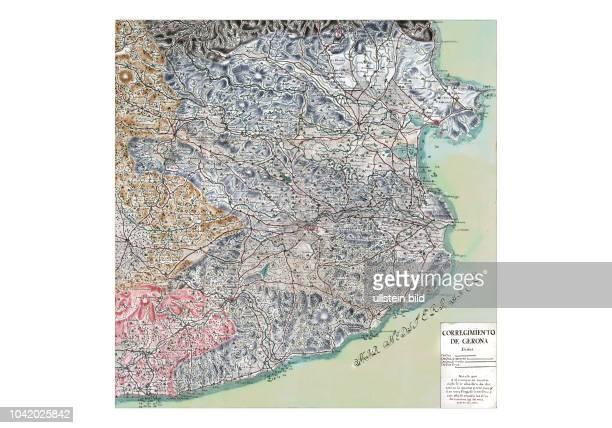 Empurda 1716 Corregimiento de Gerona Aus Mapa general del principado de Catalu–a y Rossell—n con las fronteras de Francia Aragon y Valencia...