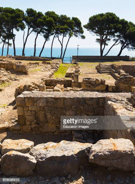 Empuries also known as Ampurias Girona Province Catalonia Spain City walls in the southern sector dating from the 2nd century BC Empuries was founded...