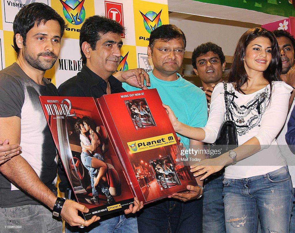 Emraan Hashm Kishan Kumar and Jacqueline Fernandez at the music launch of the movie `Murder 2` at Planet M Mumbai on June 10 2011