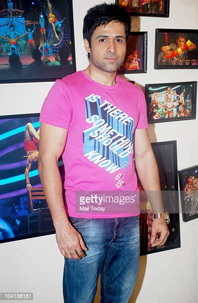Emraan Hashmi on the sets of a reality show in Mumbai on September 15 2010