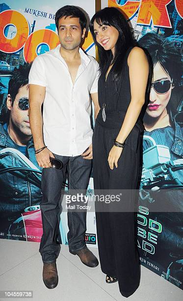 Emran Hashmi and Neha Sharma during a press conference for the film 'Crook' in Mumbai on September 29 2010