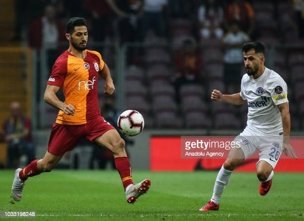 Emre Akbaba of Galatasaray in action during Turkish Super Lig soccer match between Galatasaray and Kasimpasa at Turk Telekom Stadium in Istanbul...