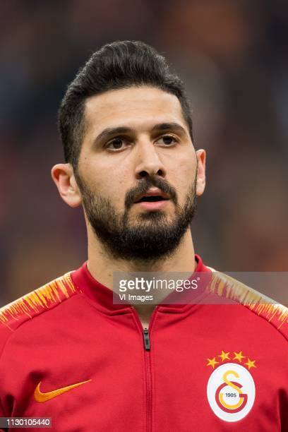Emre Akbaba of Galatasaray SK during the Turkish Spor Toto Super Lig football match between Galatasaray SK and Antalyaspor AS at the Türk Telekom...