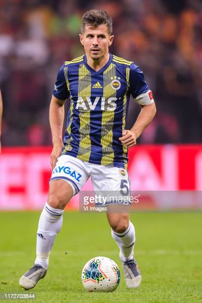 Emre Belozoglu of Fenerbahce SK during the Turkish Spor Toto Super Lig match between Galatasaray SK and Fenerbahce AS at the Turk Telekom Arena on...