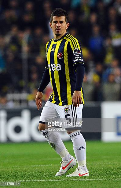 Emre Belozoglu of Fenerbahce SK in action during the Turkish Spor Toto Super Lig match between Fenerbahce SK and Galatasaray AS held on March 17 2012...