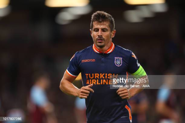 Emre Belozoglu of Istanbul Basaksehir during the UEFA Europa League Third Round Qualifier Second Leg metch between Burnley and Istanbul Basaksehir at...