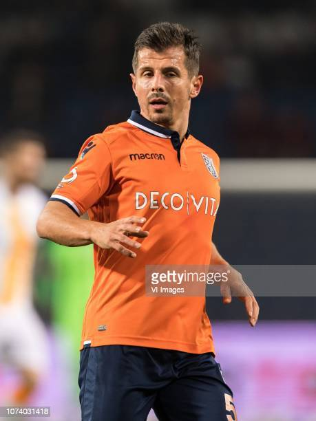 Emre Belozoglu of Istanbul Medipol Basaksehir FK during the Turkish Spor Toto Super Lig match between Medipol Basaksehir FK and Galatasaray AS at the...
