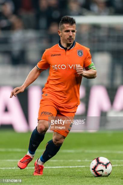 Emre Belozoglu of Istanbul Medipol Basaksehir FK during the Turkish Spor Toto Super Lig football match between Besiktas JK and Medipol Basaksehir FK...