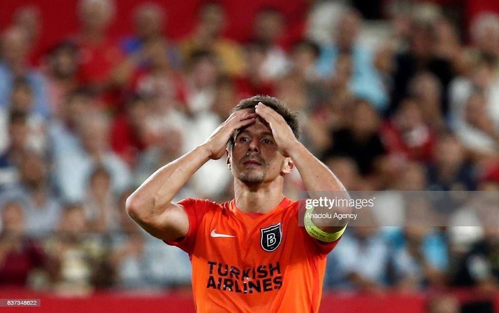 Sevilla FC vs Medipol Basaksehir: UEFA Champions League play-off match : News Photo