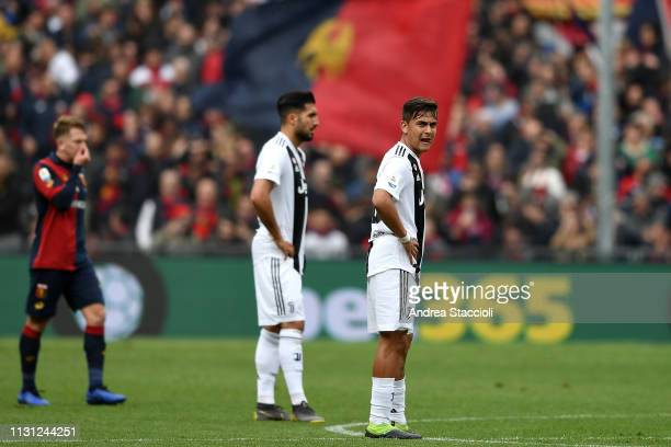 Emre Can and Paulo Dybala of Juventus react after second goal of Genoa during the Serie A match between Genoa CFC and Juventus FC Genoa CFC won 20...