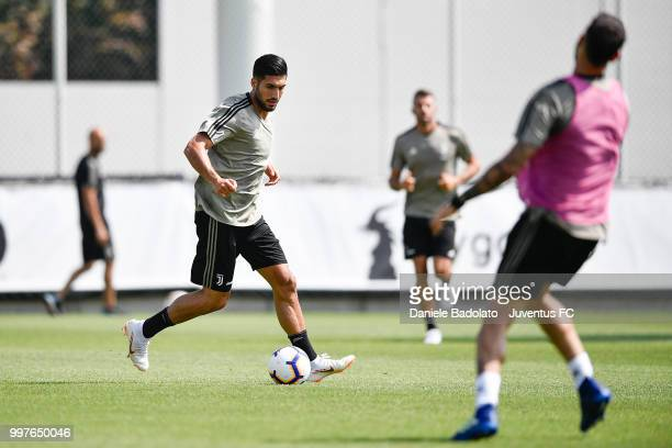 Emre Can during a Juventus training session at Juventus Training Center on July 13 2018 in Turin Italy