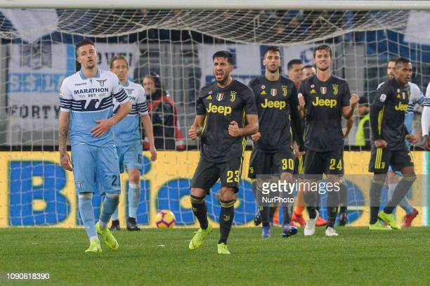 Emre Can during the Italian Serie A football match between SS Lazio and FC Juventus at the Olympic Stadium in Rome on january 27 2019