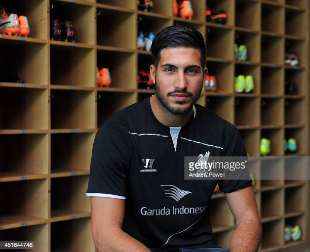 Emre Can new signing for Liverpool Football Club at Melwood Training Ground on July 3 2014 in Liverpool England