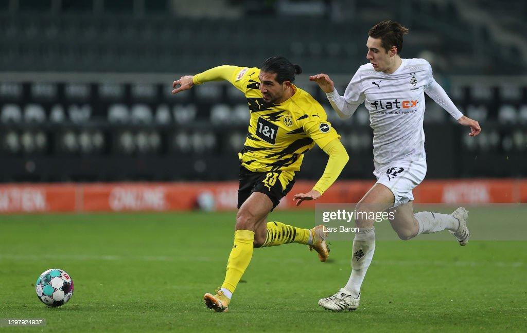 Borussia Moenchengladbach v Borussia Dortmund - Bundesliga : Foto jornalística
