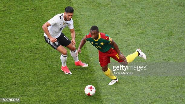 Emre Can of Germany closes down Sebastien Siani of Cameroon during the FIFA Confederations Cup Russia 2017 Group B match between Germany and Cameroon...