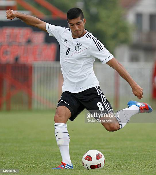 Emre Can of Germany in action during the U19 Hungary v U19 Germany Elite Round match at Slana Bara stadium on May 30 2012 in Novi Sad Serbia