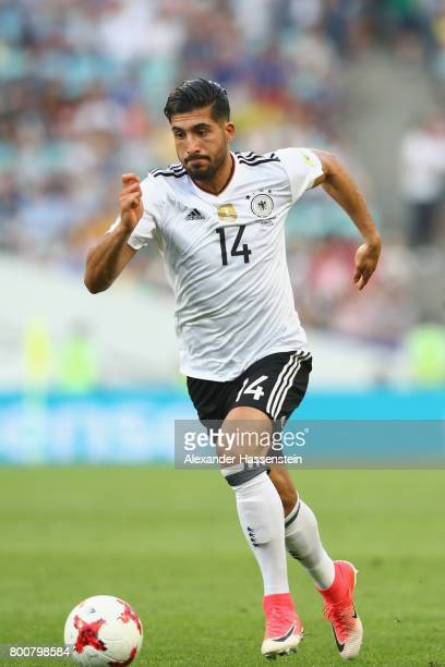 Emre Can of Germany runs with the ball during the FIFA Confederations Cup Russia 2017 Group B match between Germany and Cameroon at Fisht Olympic...