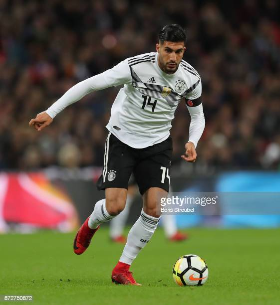 Emre Can of Germany runs with the ball during the International friendly match between England and Germany at Wembley Stadium on November 10 2017 in...