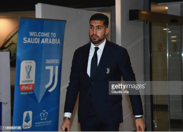 Emre Can of Juventus arrives at Riyadh Airport on December 20 2019 in Riyadh Saudi Arabia