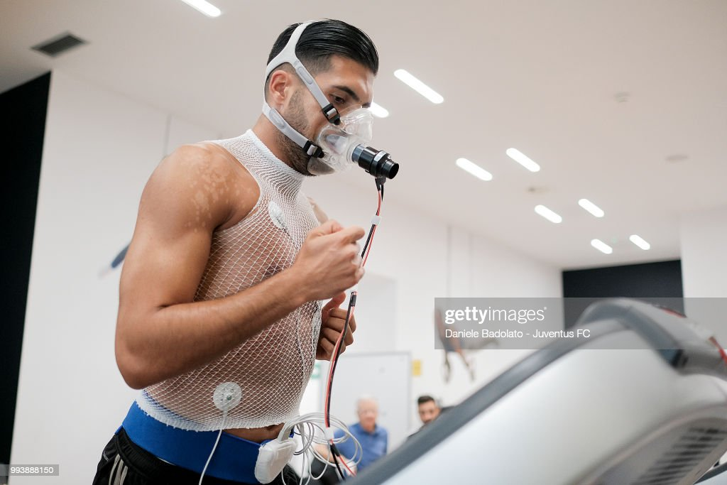 Emre Can of Juventus attends medical tests at Jmedical on July 8, 2018 in Turin, Italy.