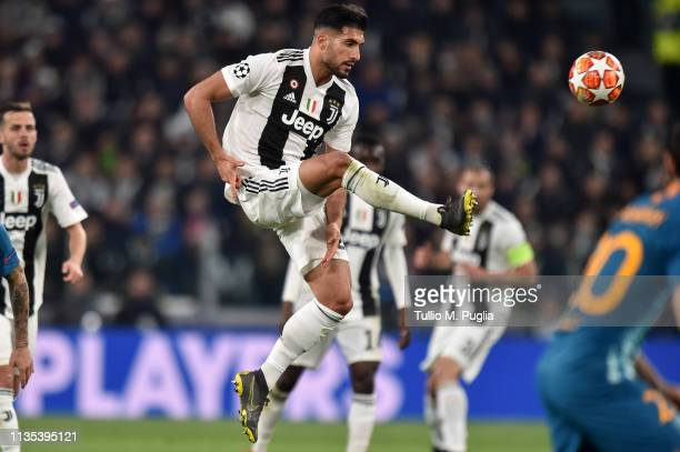 Emre Can of Juventus controls the ball during the UEFA Champions League Round of 16 Second Leg match between Juventus and Club de Atletico Madrid at...