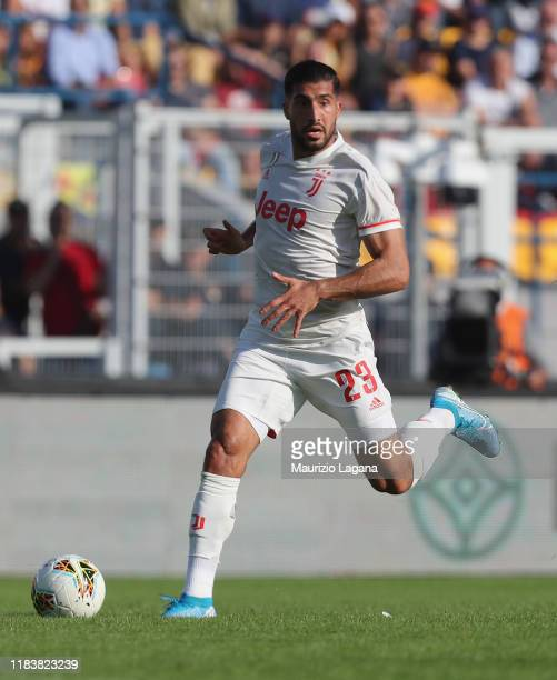 Emre Can of Juventus during the Serie A match between US Lecce and Juventus at Stadio Via del Mare on October 27, 2019 in Lecce, Italy.