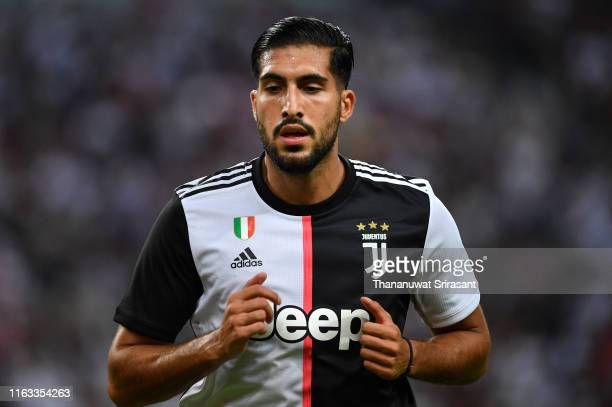 Emre Can of Juventus in action during the International Champions Cup match between Juventus and Tottenham Hotspur at the Singapore National Stadium...