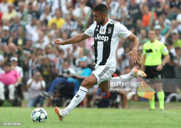 Emre Can of Juventus in action during the PreSeason Friendly match between Juventus and Juventus U19 on August 12 2018 in Villar Perosa Italy